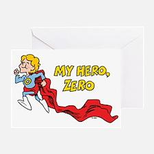 My Hero, Zero Greeting Card