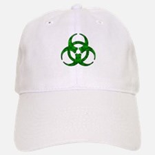 Distressed Green Biohazard Baseball Baseball Cap