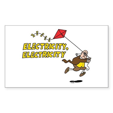 Electricity Sticker (Rectangle)
