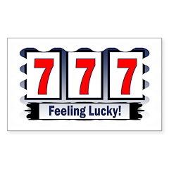 777 Feeling Lucky! Rectangle Decal