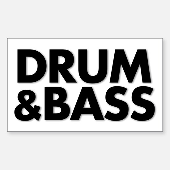 Drum&Bass Sticker (Rectangle)