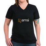 Errai Women's V-Neck Dark T-Shirt
