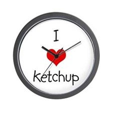 I Love Ketchup Wall Clock