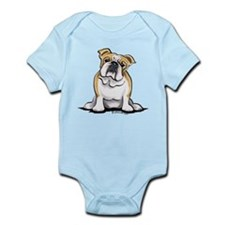 Cute English Bulldog Infant Bodysuit