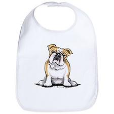 Cute English Bulldog Bib