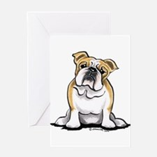 Cute English Bulldog Greeting Card