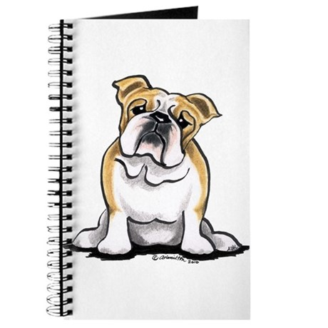 Cute English Bulldog Journal