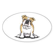 Cute English Bulldog Decal