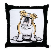 Cute English Bulldog Throw Pillow
