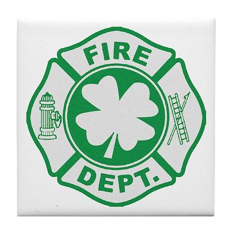 Irish Firefighter Tile Coaster