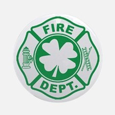 Irish Firefighter Ornament (Round)