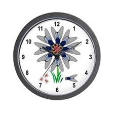 Fly Flower Illusion Wall Clock