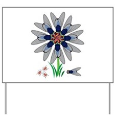 Fly Flower Illusion Yard Sign
