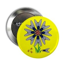 """Fly Flower Illusion 2.25"""" Button"""