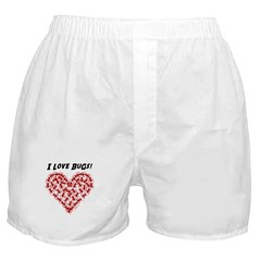 Red Love Bugs Boxer Shorts