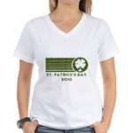 St. Patrick's Day 2010 Women's V-Neck T-Shirt