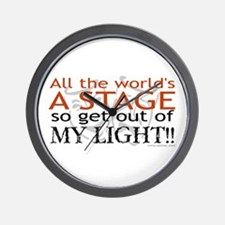 Get Out Of My Light! Wall Clock