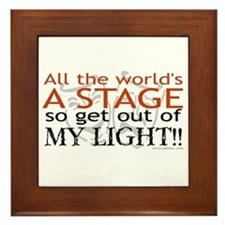 Get Out Of My Light! Framed Tile