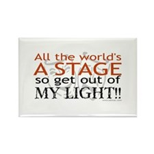 Get Out Of My Light! Rectangle Magnet (100 pack)