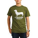Wanna Pet My Wiener? Organic Men's T-Shirt (dark)