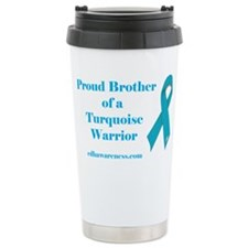 Proud Brother of a Turquoise Travel Mug