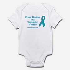 Proud Brother of a Turquoise Infant Bodysuit