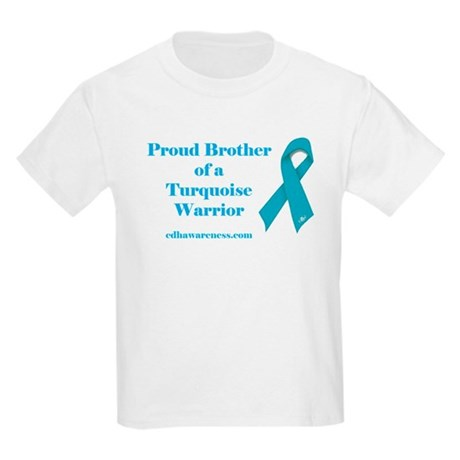 Proud Brother of a Turquoise Kids Light T-Shirt