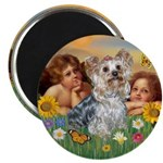 Angels with Yorkie Magnet