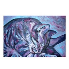 Cute Purple cat Postcards (Package of 8)