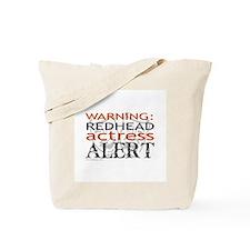 Warning: Redhead Actress Tote Bag