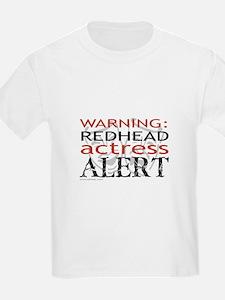 Warning: Redhead Actress Kids T-Shirt