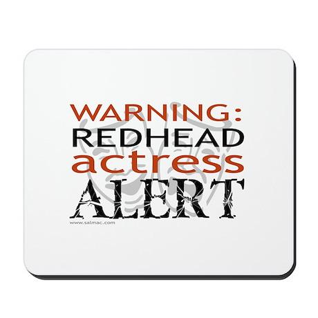 Warning: Redhead Actress Mousepad