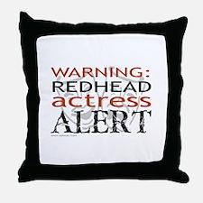 Warning: Redhead Actress Throw Pillow
