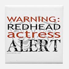 Warning: Redhead Actress Tile Coaster