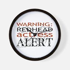 Warning: Redhead Actress Wall Clock