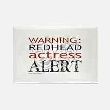 Warning: Redhead Actress Rectangle Magnet (100 pac