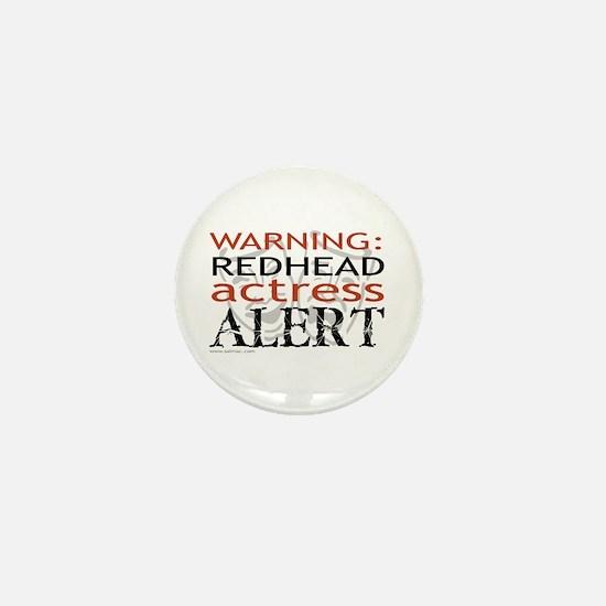 Warning: Redhead Actress Mini Button