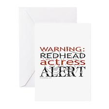 Warning: Redhead Actress Greeting Cards (Package o