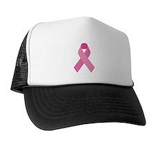 Single Pink Ribbon Trucker Hat