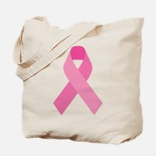Single Pink Ribbon Tote Bag
