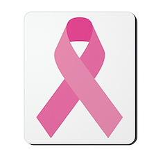 Single Pink Ribbon Mousepad