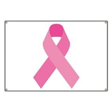 Single Pink Ribbon Banner