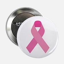 """Single Pink Ribbon 2.25"""" Button"""