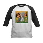 Angels with Yorkie Kids Baseball Jersey