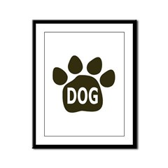 Dog paw plain Framed Panel Print