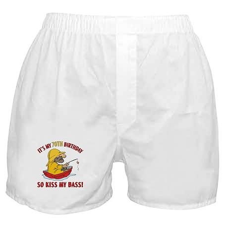 Fishing Gag Gift For 70th Birthday Boxer Shorts