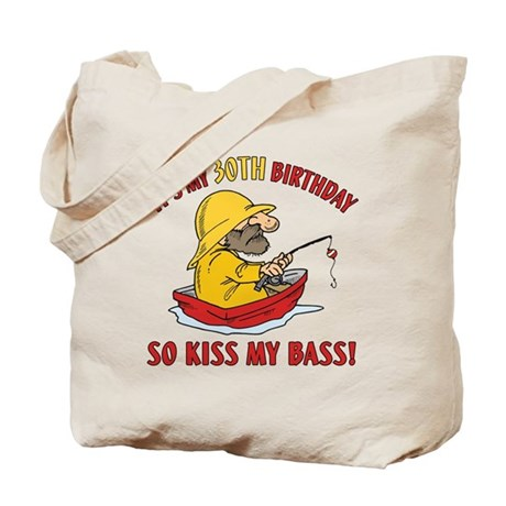 Fishing gag gift for 30th birthday tote bag by birthdaybashed for Fishing gag gifts