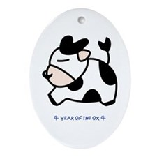 Year of the Ox Oval Ornament