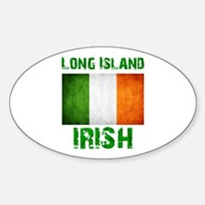 Long Island IRISH Sticker (Oval)