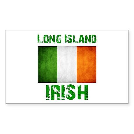 Long Island IRISH Sticker (Rectangle)